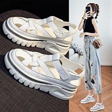 真皮涼鞋 DANDT 時尚真皮鏤空魔鬼粘休閒涼鞋(21 APR) 同風格請在賣場搜尋 BLU 或 歐美女鞋