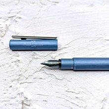 =小品雅集= 德國 FABER-CASTELL 輝柏 NEO 髮絲紋袖珍型 鋼筆 深藍(146160/146161)