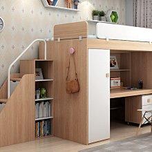 兒童雙層床系統家具裝潢上層床下層衣櫃書桌架