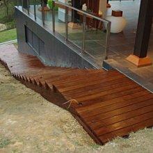 (尚霖木作工程館)南方松戶外工程 木棧道、木平台、木圍籬、木樓梯