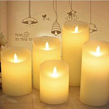 (台灣現貨) LED仿真蠟燭 直徑5.3cm高10cm 喜宴 拜佛 紅殼/香檳色殼 中號 大號 燈蕊搖擺 電子蠟燭 婚禮