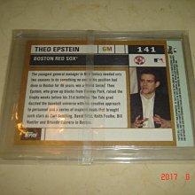 美國職棒 Cubs General Manager Theo Epstein 2005 Topps  #141  球員卡