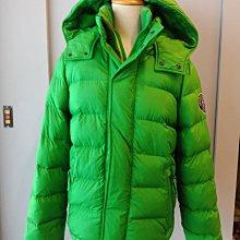 (雅峰精品) Abercrombie & Fitch A&F 連帽厚羽絨外套,亮綠色(L號)