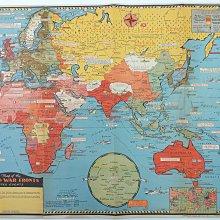(徐宗懋圖文館)1943年第二次世界大戰作戰地圖〈Map of the World War Fronts〉