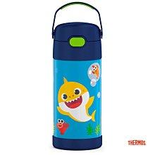 美國 THERMOS 膳魔師 baby shark 不銹鋼真空保冷瓶 保溫瓶 吸管瓶 兒童水壺 355ML 鯊魚寶寶