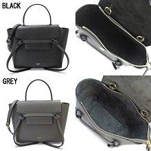全新正品 CELINE 189003 Nano Belt bag in grained calfskin 黑色