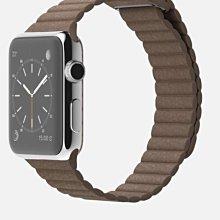 ^_^東京直遞 apple watch 42mm不鏽鋼版 皮革錶環 棕色皮革磁扣錶帶 20000元就賣