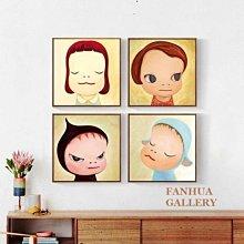 C - R - A - Z - Y - T - O - W - N 奈良美智掛畫 人文藝術裝飾畫 兒童房間掛畫 民宿掛畫現代裝飾畫奈良美智夢遊娃娃兒童房掛畫版畫