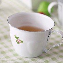 鄉村雜貨小市集*zakka 復古典雅白底小碎花琺瑯杯咖啡杯