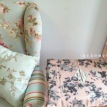 【遇見美好雜貨】A50611 花園系列粉底玫瑰花棉麻餐巾/棉麻餐墊