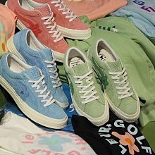 "Creator x Converse One Star Ox Golf Le Fleur麂皮板鞋系列""緋紅""160325C"