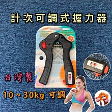 【綠色大地】台灣製 計次握力器 10~30公斤可調 握力 腕力 握力訓練器 手腕訓練 腕力器 可調式握力器 腕力球