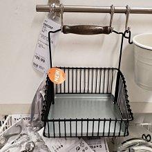 YOYO日韓代購~溫馨宜家IKEA芬托網籃帶提手廚房置物架調料瓶架濾干架鐵藝免運