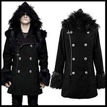 *MINI PUNK LOLO*黑暗龐克視覺-黑暗之境惡魔禁獵區狩魔獵人雙排釦毛海連帽外套(CT129)PUNK