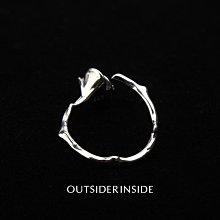 OUTSIDERINSIDE FLAW系列925銀 原創設計可調節纏繞玫瑰鉆石戒指