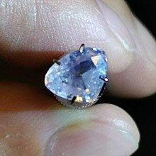 天然無燒淡藍色藍寶石-印度喀什米爾產