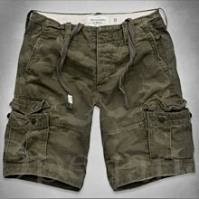 A&F AF Abercrombie &Fitch Cargo麋鹿迷彩厚磅五分褲海灘褲工作短褲 28 30 31 32腰