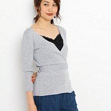日本品牌AG by aquagirl 灰色毛衣針織上衣同日本ined,金安德森,Jill stuart