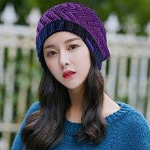 【韓製ROCK NBLUE秋冬保暖實搭造型 R226-3 優質雙面戴毛帽】紫色深藍  帽子專賣店