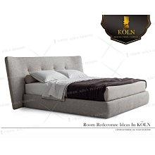 【爵品訂製床】MF-B2-35復刻近原裝Minotti/Poliform標準雙人5尺布床架,訂制6尺布床架,客制化
