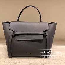 全新正品 CELINE 189003 Nano Belt bag in grained calfskin 淺酒紅 深紅