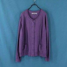 ※專櫃品牌※【Phidias】大尺碼 紫色 長袖毛衣外套 T3號