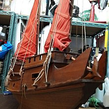 古董帆大帆船 照比例設計純手工 年代久遠