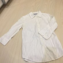 ☆╮PRiNcEsS-Mine╭☆ NET女款米白帶銀線七分袖襯衫╭☆OL款 Giordano ladies Ralph Lauren Polo Tommy