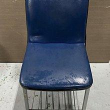 台中二手家具買賣 推薦 西屯樂居 F0406BJJ 藍色桌椅 洽談椅 書桌椅 電腦椅 會客椅 2手各式桌椅拍賣