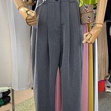 促銷特價 適合胯大腿粗的高腰九分西裝褲大碼女裝胖妹妹mm直筒闊腿褲200斤-紫色微洋-可開發票