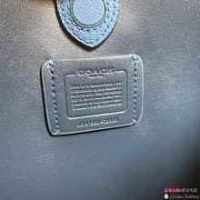美國大媽代購 COACH 寇馳78800 新款手提菜籃包 全素面牛皮 藍色單肩斜背包  原裝正品 美國代購