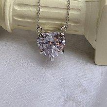 特價心型吊墜 5克拉高碳仿真鑽石項鏈女鑽 5克拉韓版飾品 精工爪鑲單碳原子 純銀鍍鉑金不勾扯毛髮  FOREVER鑽寶