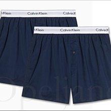 Calvin Klein CK 男內著 卡文克萊藍色寬鬆四角褲 兩件一組平口褲內褲S M L XL號 愛Coach包包