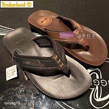 正品Timberland 2020最新款男士夾腳拖鞋 時尚真皮沙灘人字拖 39-45碼