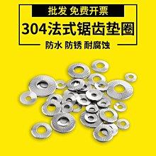 那家小屋-304不銹鋼法式鋸齒鎖緊墊圈 防滑墊圈 防松墊片NFE25511 Φ3-Φ20(款式不同 價格須改)