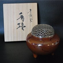 高岡精煉青銅三足 純銀蓋香爐(高岡銅器 瑞峰 日本香道具 非鐵瓶 銀壺)