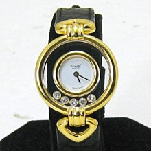順利當舖 Chopard/蕭邦 18K金 Happy Diamond 5顆快樂鑽特殊造型錶耳女錶