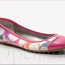 官網 Coach Poppy Shoes 彩色塗鴉C包鞋娃娃鞋平底鞋芭蕾舞鞋9.5號26.5號 免運費 愛Coach包包