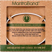 MANTRABAND She Believed She Could她相信她可以 灰銀手環