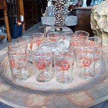 *阿柱的店*老玻璃杯 水杯 台玻 大里鄉農會65年4月 存款超過二億元紀念 節約儲蓄