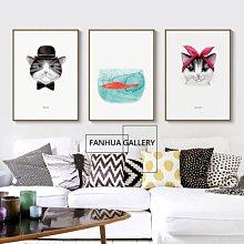 C - R - A - Z - Y - T - O - W - N 時尚動物貓咪掛畫 喵星人裝飾畫 店面空間設計掛畫裝飾
