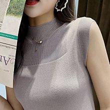 女裝新款背心女打底衫夏季針織坎肩無袖上衣外穿百搭大碼T恤