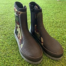 T09-B0005 台灣製迷彩長筒防滑鞋 無釘 毛氈菜瓜布底、潛水、朔溪、釣魚 大營家露營登山休閒