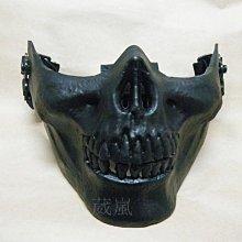 半罩式骷髏面罩 (防毒面具護目鏡眼罩防護罩頭套角色扮演歹徒變蠅人cosplay防風眼鏡防風鏡生存遊戲萬聖節 死人骨頭