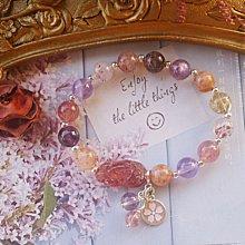 開光【草莓晶貔貅◎純銀手錬】925純銀 超七 超級七 招財貔貅手錬 招財   事業運   穩定感情