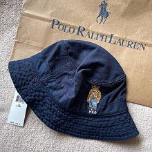 Polo Ralph Lauren Polo Bear Chino Bucket Hat 漁夫帽 深藍色 全新正品 現貨在台 L/XL 大頭圍