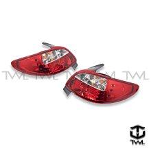 《※台灣之光※》全新 PEUGEOT 寶獅 206 03 04 05 06 07 08年外銷品LED紅白晶鑽尾燈後燈組