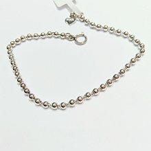 台南 長記銀樓 純白金950材質 女手鍊,白金金重1.23錢,特價$7960元,整圈亮面珠珠,秀氣可愛手圈