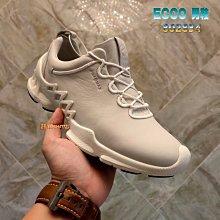 正貨ECCO BIOM AEX 機能健走鞋 犛牛皮 ECCO運動鞋 柔軟舒適 減震中底 防水耐用 透氣護腳