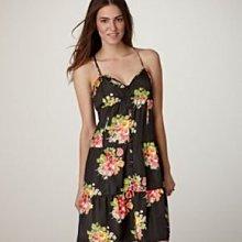美國老鷹American Eagle AE Dress女裝 0或6號黑底花卉細肩帶優雅氣質洋裝含運在台現貨